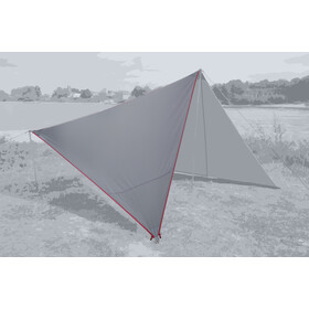 Bent Canvas Plain Tarp Pojedynczy, high rise/zipper red